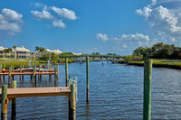 1702 Captains Way dock view east